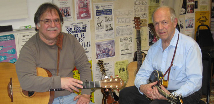 With Bluegrass Hall of Famer  Al Hawkes