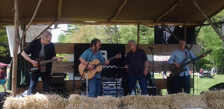 Outdoor concert at the Pineland Trail Race Festival